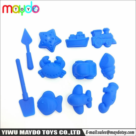 11Pcs Sea Land Air Molds Sand Clay Moulding Sets Plastic Model Toy