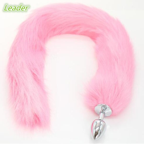 3679316ce 10 PCS Lot Large Size Metal Silicone Anal Plug Faux Fox Tail 78cm Butt Plug  Flirt Anal Sex Toys Adult Products for Couples