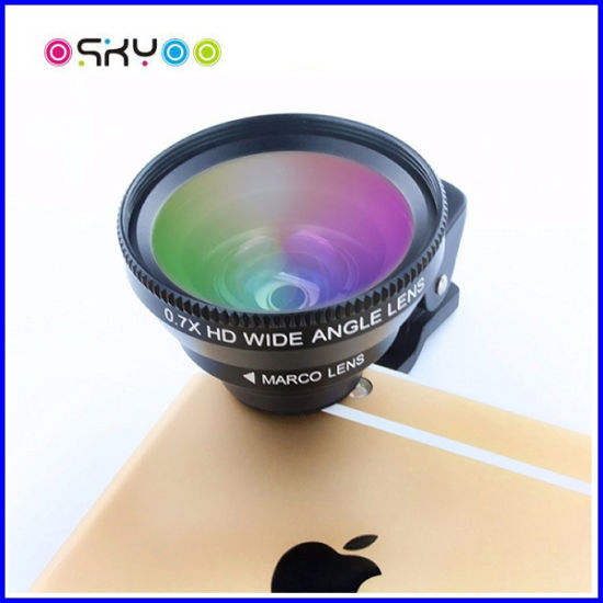 Universal Clip 3in1 Macro Wide Angle Cell Phone Lens pictures & photos