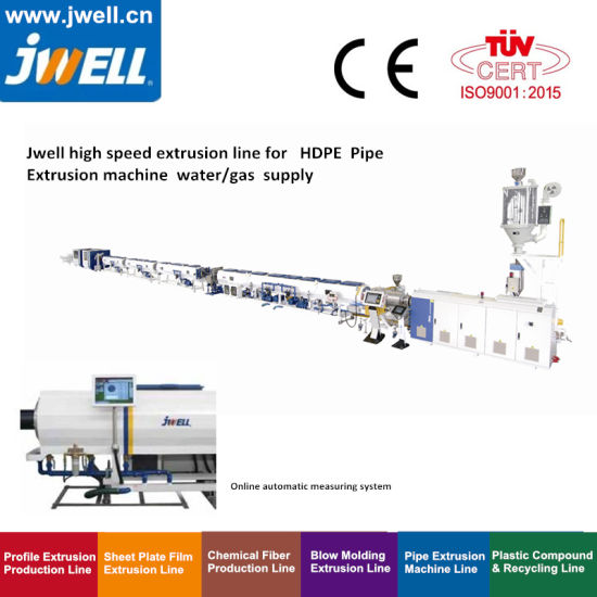 China Jwell High Speed Plastic Extruder Mpp PVC PE PP PPR HDPE Tube/Pipe Making Machine for Pipe Specification 20 75 90 110 160 250 450 800 1000 1200 1600mm