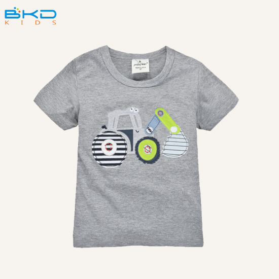 China Custom Design Baby Clothes Round Neck Kids Boy T Shirt China