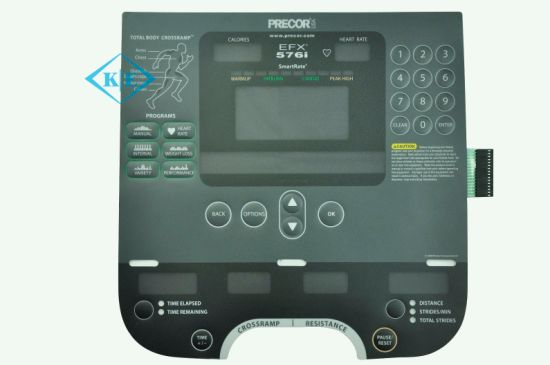 Fitness Control Clear Window Membrane Keypad with Embossing Buttons pictures & photos