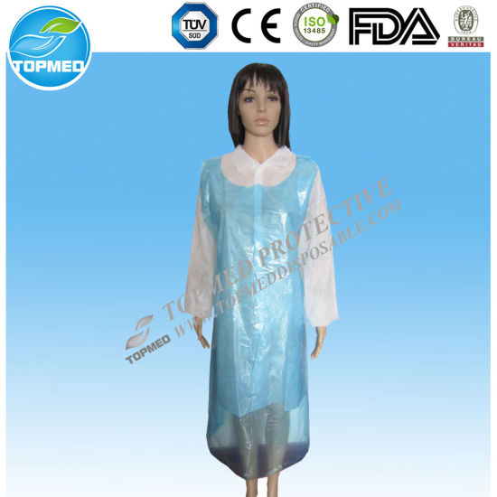 Medical/Hospital/PP+PE/PP/SMS/Polypropene Nonwoven/Plastic/Polyethylene/Poly/HDPE/LDPE/PVC Disposable PE Apron