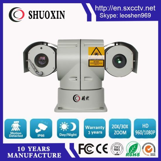 20X Zoom CMOS 500m Night Vision 5W Laser HD IP PTZ CCTV Camera pictures & photos
