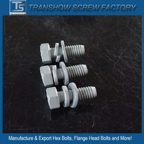 Made in China Hexagon Head Dacromated Screw with Washer and Spring pictures & photos