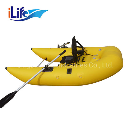 Ilife Inflatable Belly Boat for One Person Fishing Single Person Belly Boat Fishing Boat