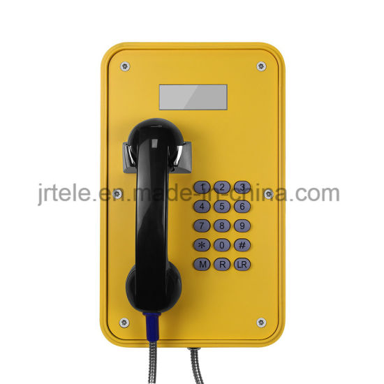 Weatherproof Industrial Telephone with LCD Display for Tunnel, Mining, Marine