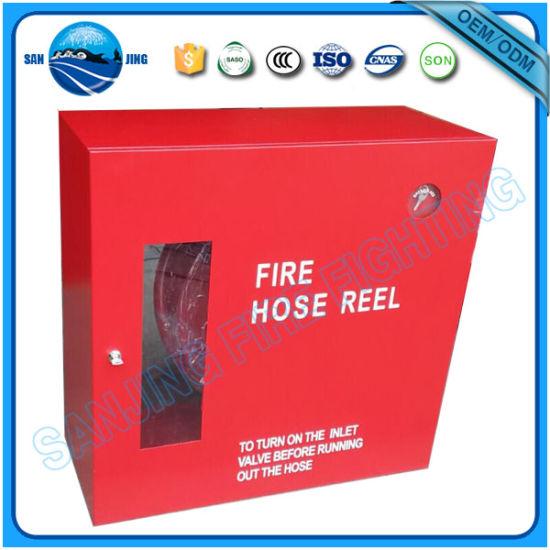 Wall-Mounted Type Fire Hose Reel Cabinet  sc 1 st  Fujian Sanjing Fire Fighting Equipment Co. Ltd. & China Wall-Mounted Type Fire Hose Reel Cabinet - China Red Metal ...