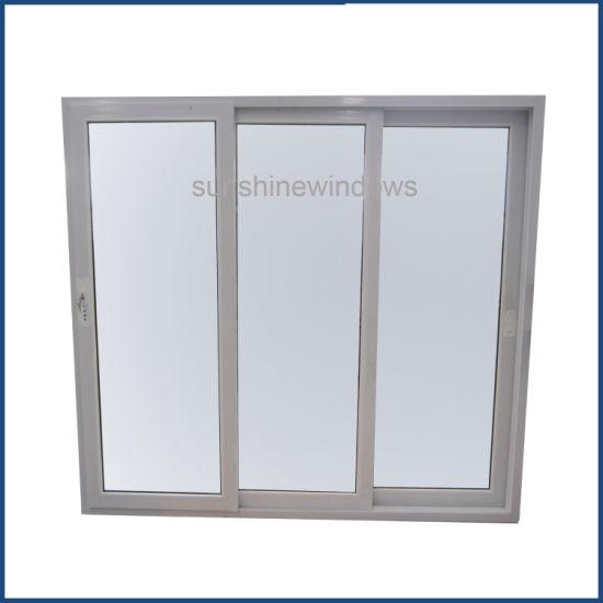 Wholesale UPVC Plastic Sliding Door Tinted Glass with Multi-Point Lock