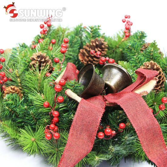 2017 wholesale cheap artificial christmas wreaths for outdoor decoration - Christmas Wreath Decorations Wholesale