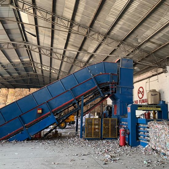 150ton Automatic Horizontal Waste Paper Carboard Caton Baler