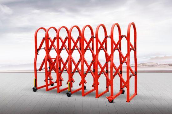 Aluminium Crowd Safety Barrier Gate Akzonobel Powder Coated Red