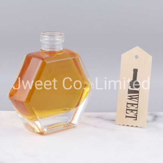 Custom 120ml Empty Flat Clear Alcoholic Beverage Vodka Wine Glass Bottles
