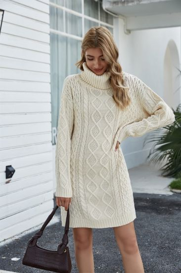 Long Turtleneck Sweater Loose Fashion Casual Knitwear Knitted Dress