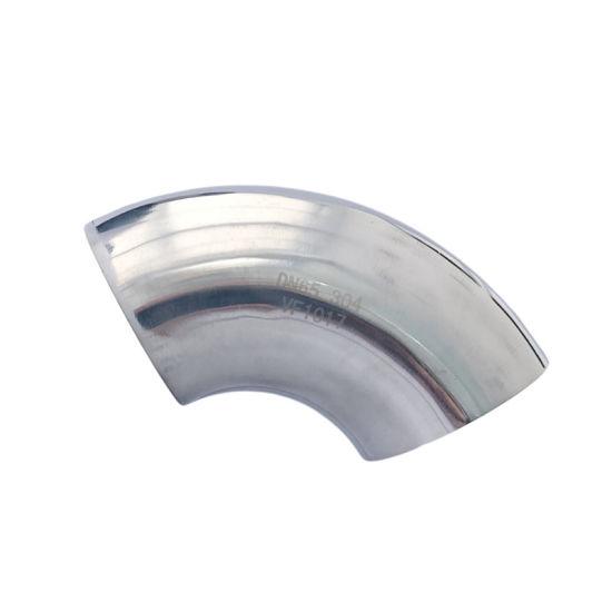 304 316 Mirror Polishing Pipe 90 Deg 1.0d Sanitary Elbow Fitting
