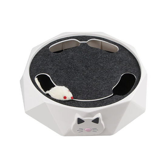 Cat Electric Toy Smart Cat Turntable Electric Mouse for Cats and Pets