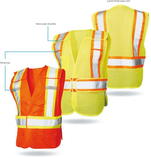 Hi-Vis Traffic Safety Reflective Workwear Clothes Raincoat Suit for Men Women