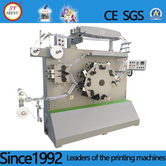 Automatic Clothes Poly Type Woven Flexographic Printer Fabric Satin Ribbon Label Flexo Printing Machine