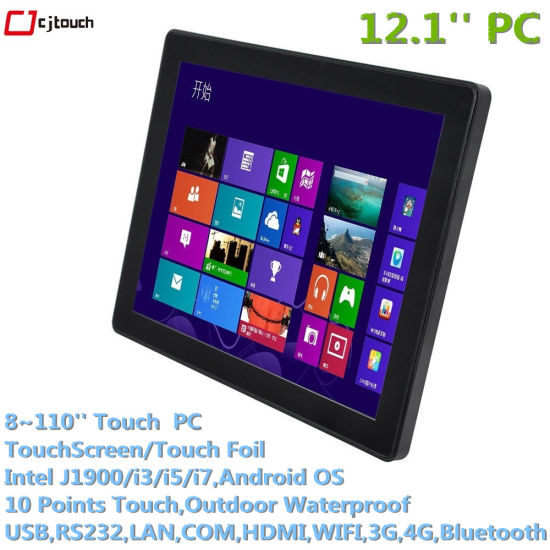 Cjtouch Made in China Advertising Android 12.1inch WiFi 4G SIM Card Capacitive Industrial Touch PC