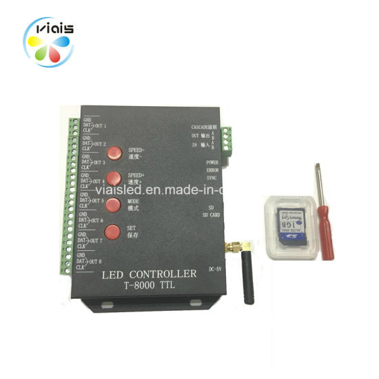 T8000 Programmable Pixel RGB Strip Magic LED Controller with SD Card