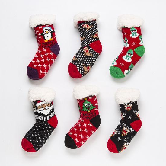 Christmas Fuzzy Socks.China Women S Fleece Lining Fuzzy Soft Christmas Knee Highs