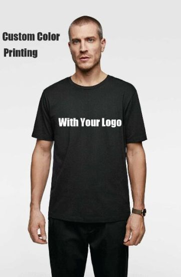 2019 Wholesale Custom Men's Casual 100% Cotton High Quality Tee Shirt Printing Plain Mens Tshirt with Private Label