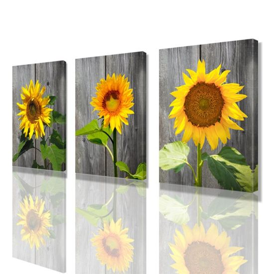 Sunflower Decoration Home Office Painting Prints Wall Art Canvas
