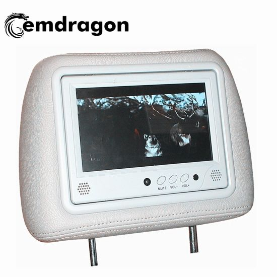 OEM ODM High Quality Hot-Sell 9 Inch Taxi Headrest WiFi Android 800X480 Resolution AV Input Taxi LCD Advertising Screen Headrest pictures & photos