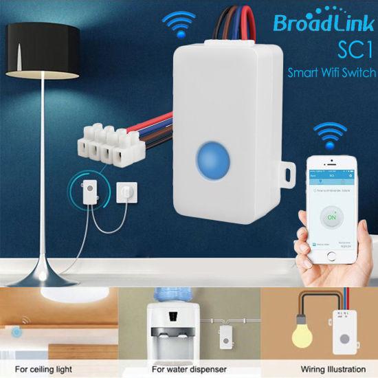Broadlink Sc1 Smart WiFi Switch Interruptor Domotica DIY Timer APP Remote  Control Home Automation Socket for Alexa Google Home