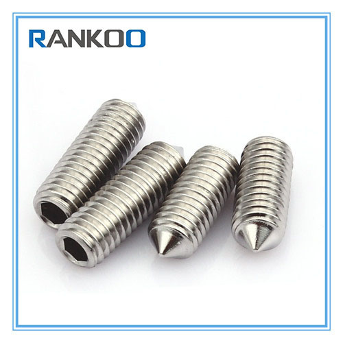 China Stainless Steel Socket Set Screw Cone Point - China