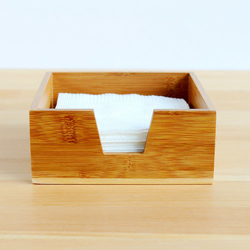Natural Solid Bamboo Wooden Tissue Box Cover Napkin Case pictures & photos