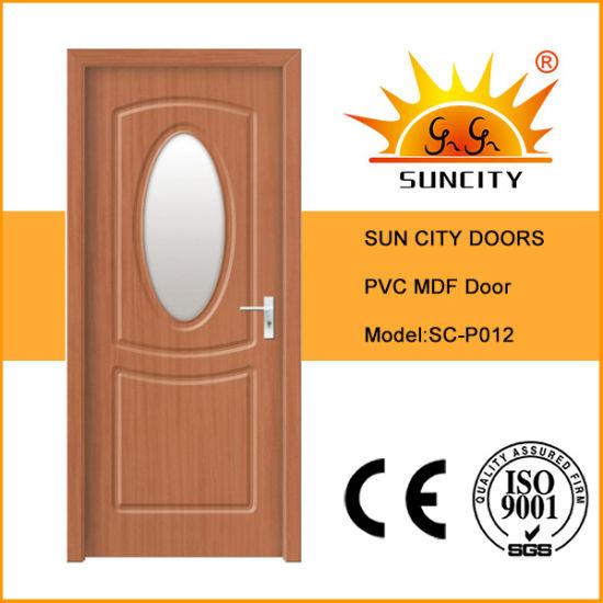 New Design Interior PVC Glass Sliding MDF Timber Doors Panel
