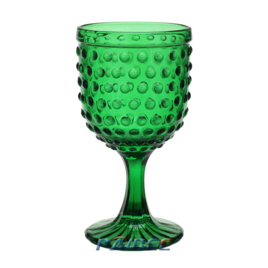 Beaded Multi Color Red Wine Glasses Clear Goblet Hot Selling Drinkware Vintage Mugs for Wedding pictures & photos
