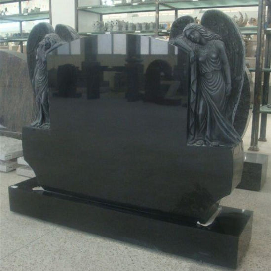 Natural Stone Black Granite Tombstone Monument SF-001 for Cremetery Garden pictures & photos