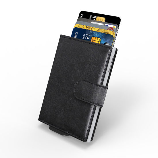 Amazon Best Sellers PU Gift Aluminium RFID Card Holder Pocket Money Wallet
