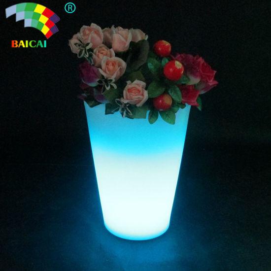 Plastic LED Flower Pots Light up Pots Lighting Pot