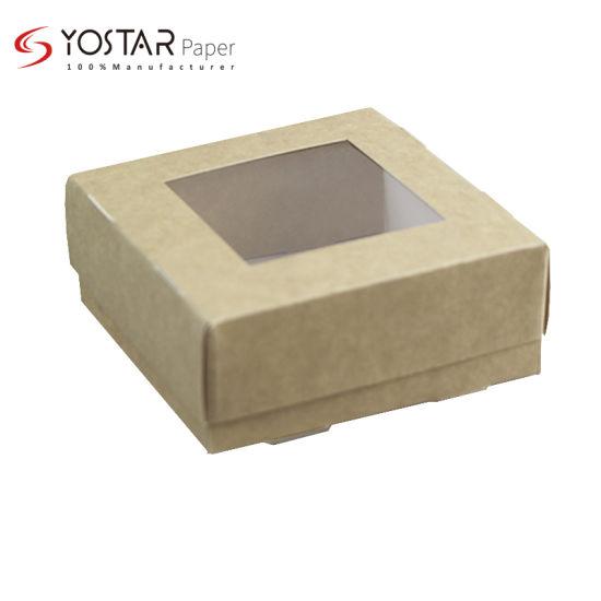 Wholesale Disposable Brown Kraft Back Food Packaging Cardboard Sushi Box