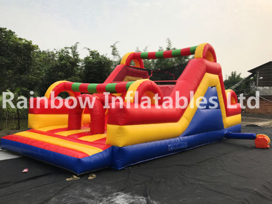 Commercial Outdoor Kids Slide Amusement Park Inflatable Obstacle Course pictures & photos