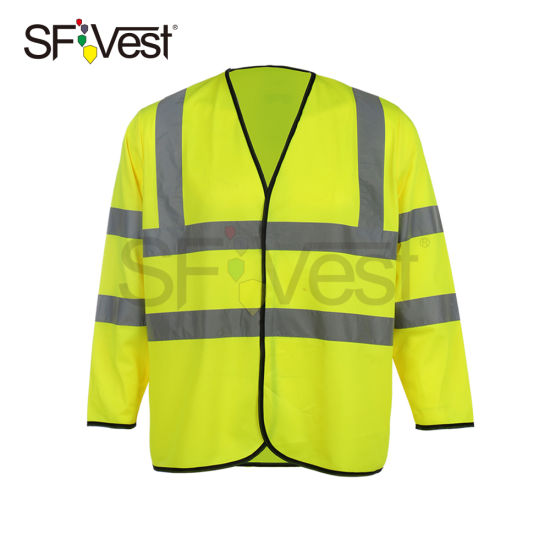 En ISO 20471 Industrial Safety Clothing Long Sleeve Safety Reflective Vest