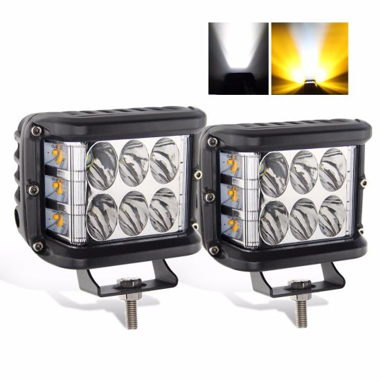 LED Flashing 2sides Strobe Shot Truck Offroad 4X4 Square 3 Inch Car LED Work Light