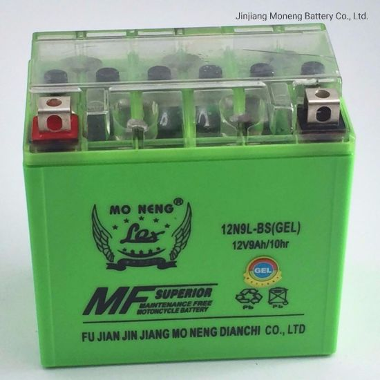 12n9l-BS Good Quality Motorcycle Spare Part Storage Battery