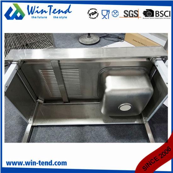 China Custom Ready Made Kitchen Cabinets Single Sink With Bottom Shelf China Kitchen Sink Kitchen Sink With Basin