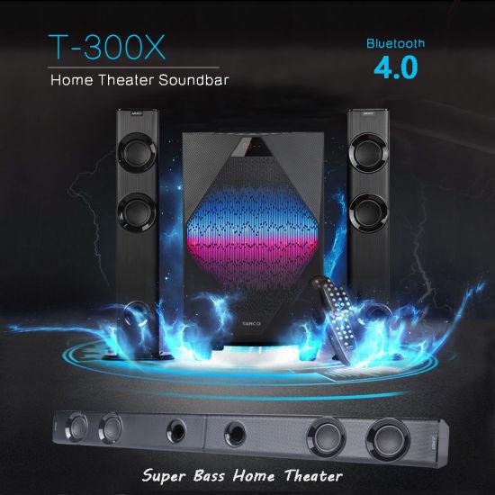 Hot Sale T-300X Wireless Home Theatre System Bluetooth Soundbar TV Speaker
