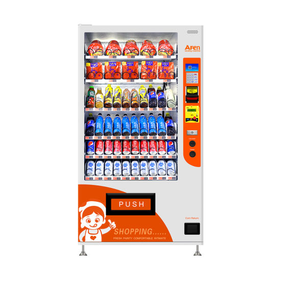 Afen Latest Airport/Bus Station Combo Automatic Drinks Snacks Vending Machines