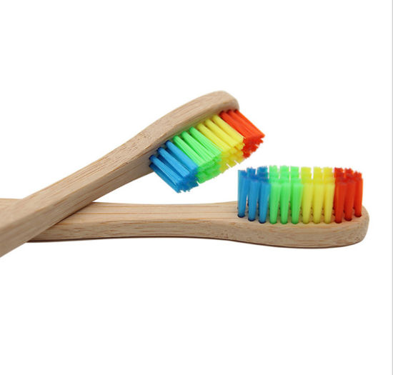 Color Nylon Bristle Bamboo Toothbrush pictures & photos