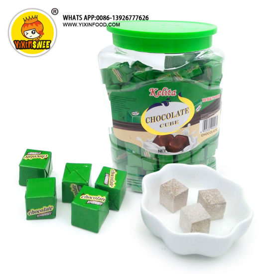 Best Hot Selling Chocolate Cube Hard Candy for West Africa Market