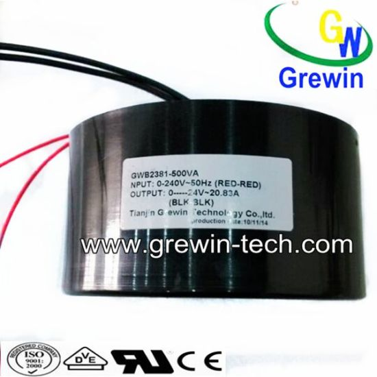 Grewin Toroidal Waterproof Transformer with IEC