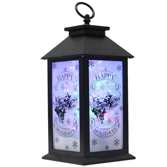 2019 Luces Navidad Scene Battery Operated Holiday Indoor and Outdoor Wall Lighting LED Lantern