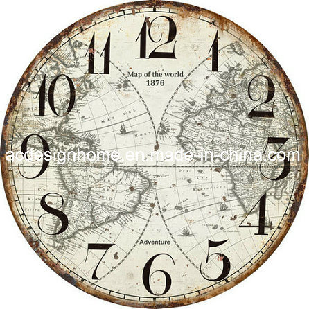 China stylish vintage mdf wooden wall clock with different design stylish vintage mdf wooden wall clock with different design world map for home decor gumiabroncs Gallery