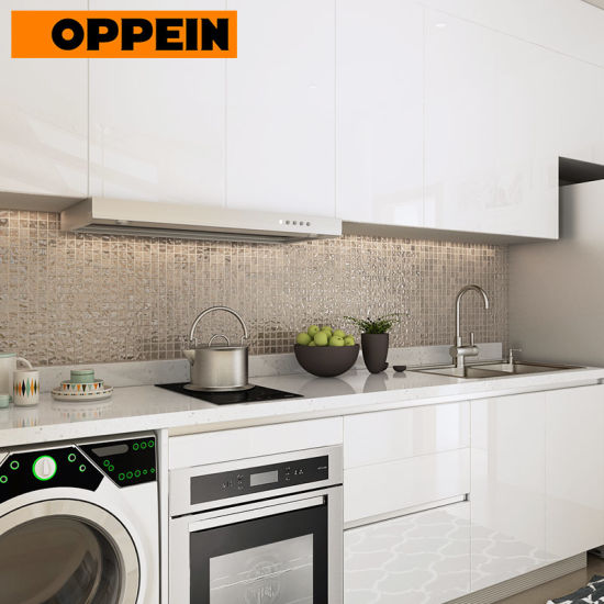 China Oppein White Wooden Pantry Kitchen Furniture Designs For Small